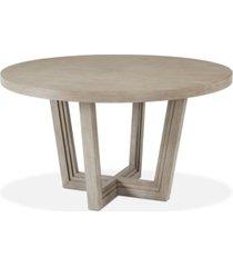 modern coastal round dining table