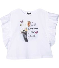 monnalisa cotton t-shirt with graphic print
