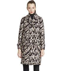 płaszcz z wełny leopard skin