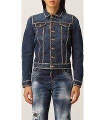 dsquared2 jacket dsquared2 denim jacket with micro chains