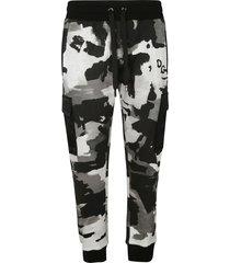 dolce & gabbana camouflage cargo track pants