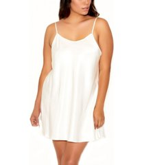 icollection plus size ultra soft satin chemise with adjustable straps