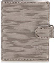 louis vuitton epi card holder gray sz: