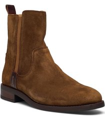 fayy mid zip boot shoes boots ankle boots ankle boot - flat brun gant