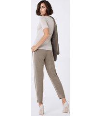 pantalone cashmere righe laterali