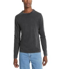 guess men's reflective long-sleeve t-shirt