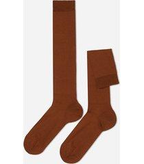 calzedonia tall stretch cotton socks man brown size 44-45