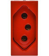 modulo de tomada vermelho 2p+t 20a