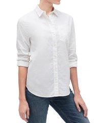 blusa lino blend blanco gap