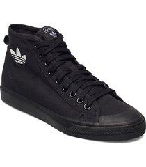 nizza high top höga sneakers svart adidas originals