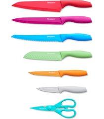 tomodachi jewels 13-pc. knife set with kitchen shears & matching blade guards
