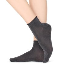 calzedonia - short patterned cotton socks, one size, grey, women