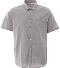 norse projects osvald seersucker shirt   navy stripe   n40-0478 7125