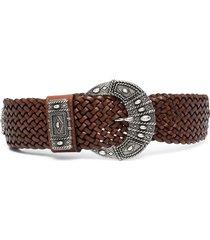 etro woven belt - brown
