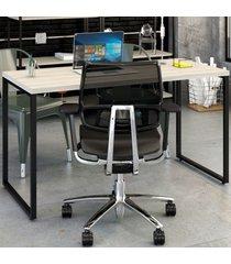 mesa para escritório office kuadra snow 8397 - compace