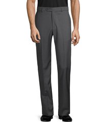 saks fifth avenue men's marzotto italian fabric-flat front wool pants - charcoal - size 32