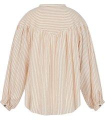 camicetta a righe in cotone e lino