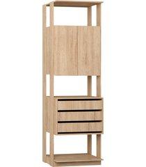estante armário/gaveteiro carvalho mel be mobiliário