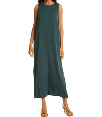 nordstrom signature stretch silk tank dress, size 4 in green timber at nordstrom