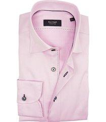 olymp signature overhemd roze structuur