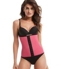 cinta mondress lingerie modeladora fitness cinturita para academia rosa