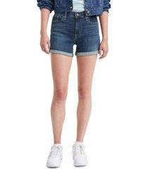 levi's women's mid-length shorts