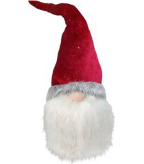 northlight gnome with bendable glitter velvet textured hat christmas decoration