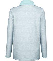 sweatshirt dress in ljusblå::offwhite