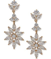 anne klein crystal starburst linear earrings