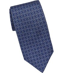 diamond medallion silk tie