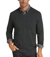 joseph abboud v-neck dark charcoal sweater