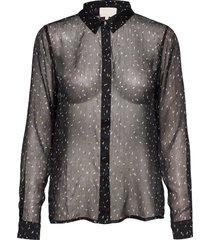 deka shirt overhemd met lange mouwen zwart minus