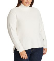 1.state trendy plus size high-low turtleneck sweater
