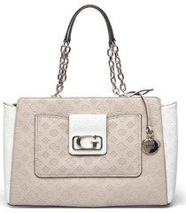 emilia elite carryall bags top handle bags crème guess
