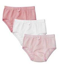 038/138 - kit 3 calcinhas infantil malha luna 038/138 rosa