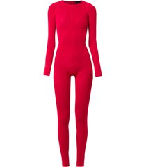 andrea bogosian slim fit jumpsuit - red