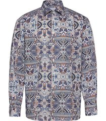 classic fit business signature twill shirt overhemd casual multi/patroon eton