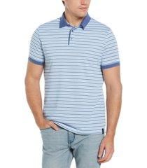 men's multi stripe short sleeve polo shirt