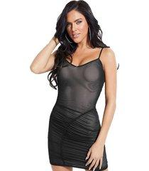 vestido sl viper dress negro guess