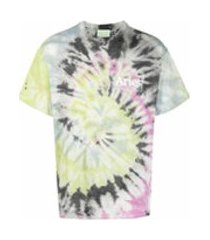 aries camiseta tie-dye de algodão - rosa