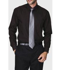 camisa formal lisa negro arrow
