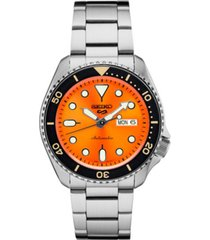 seiko men's automatic stainless steel bracelet watch 40mm