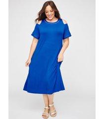 anywear diamond-stitch midi dress