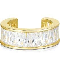 chloe & madison women's crystal baguette ear cuff