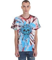 amiri tie dy skull t-shirt in multicolor cotton