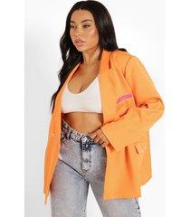 plus super oversized blazer, orange