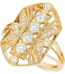 le vian vanilla diamond openwork statement ring (1/2 ct. t.w.) in 14k gold