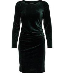 kelly dress kort klänning grön kaffe