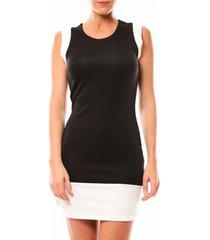 korte jurk vero moda signe s/l mini dress 10111107 noir/blanc