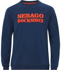 sweatshirt docksides logo crew
